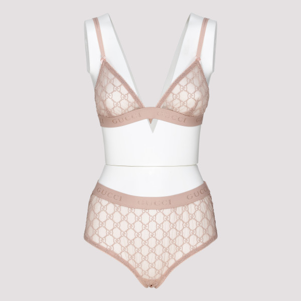 Pale Pink GG tulle lingerie...