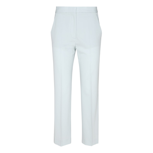 Blue Cropped Tailored Pants