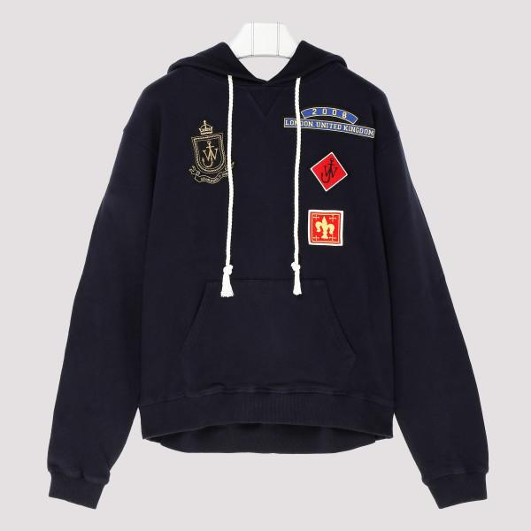 Blue Cotton Sweatshirt with...