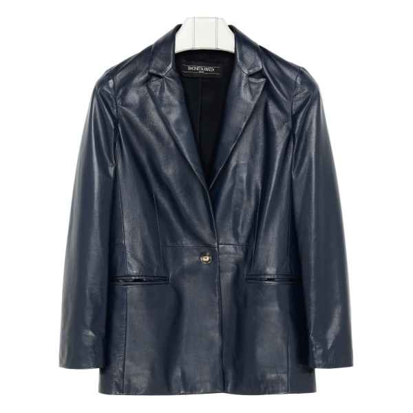 Blue leather Betty jacket