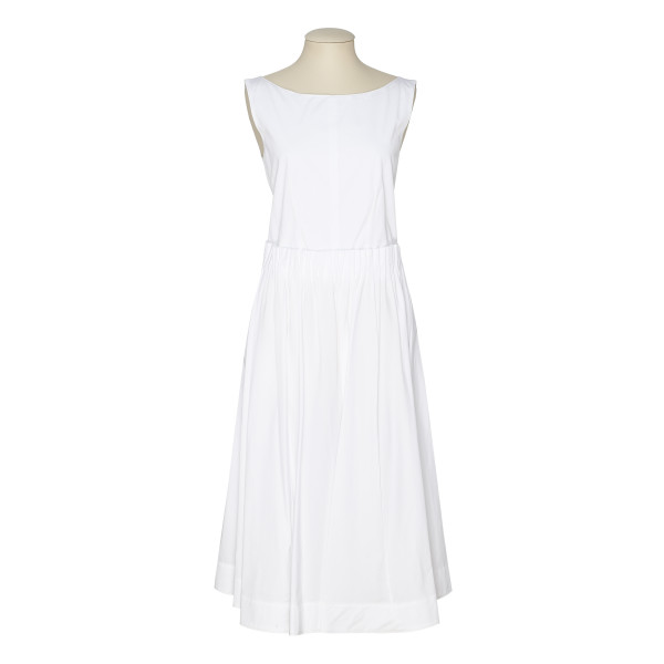 White cotton buttoned dress