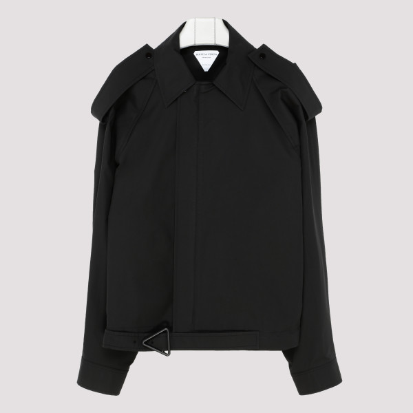 Black cotton-blend jacket