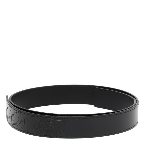 Black Essence Scritto Leather Strap