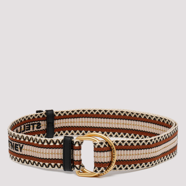 Brown geometric-pattern belt