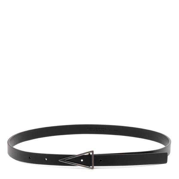 Black triangular buckle belt