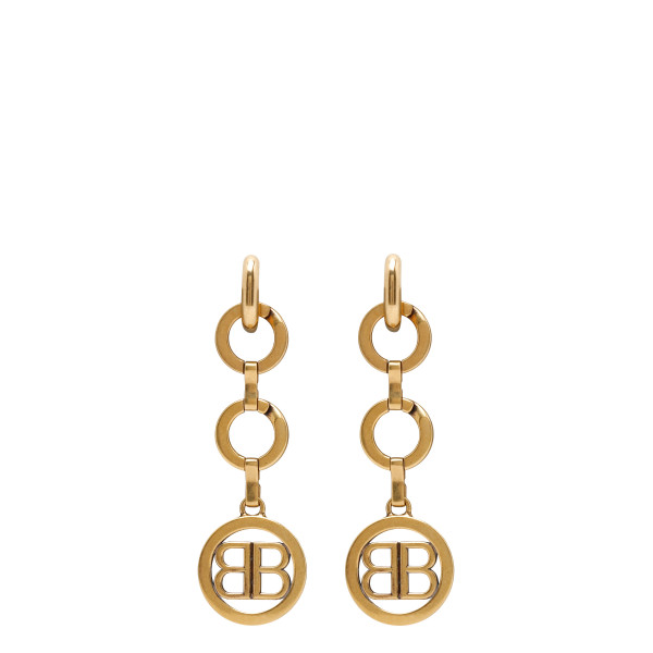 Time gold earrings