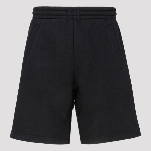 Black shorts with pink label
