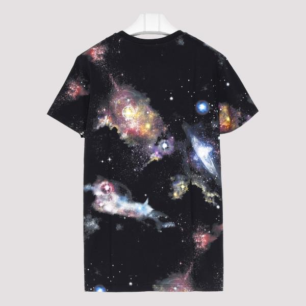 Galaxy Print Cotton T Shirt
