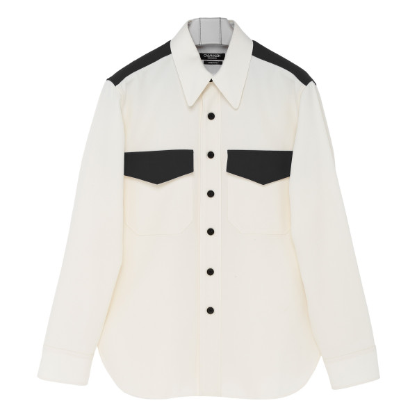 Black and white wool shirt