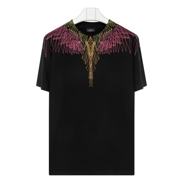 Black and Pink Bezier Wings T-Shirt