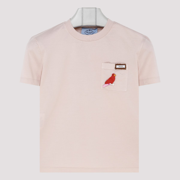 Nude pink cotton T-shirt