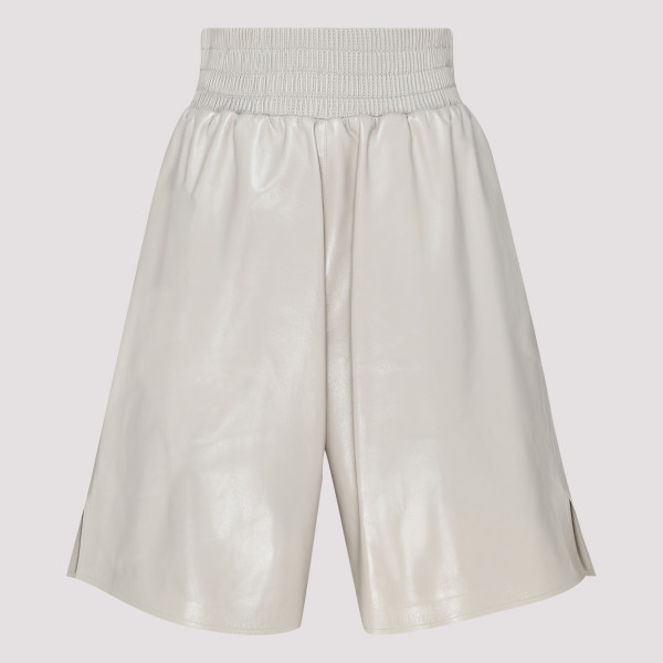 Sand lamb leather shorts