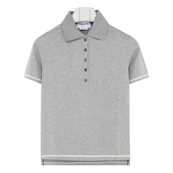 Gray Buttoned Polo T-Shirt