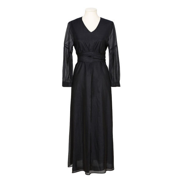 Black Rive voile and silk dress