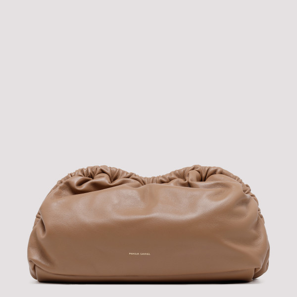 Cloud biscuit leather clutch