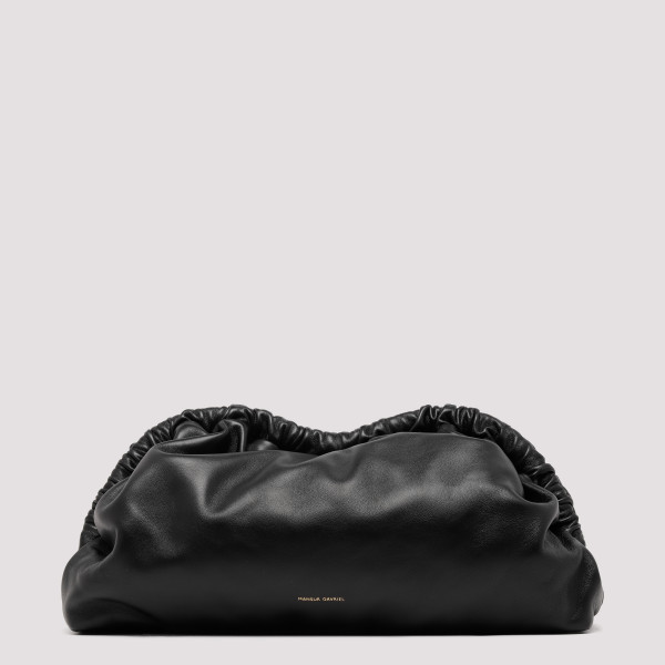 Cloud black leather clutch