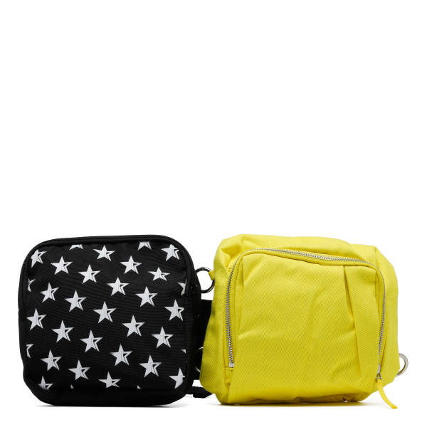 Black and yellow belt bag