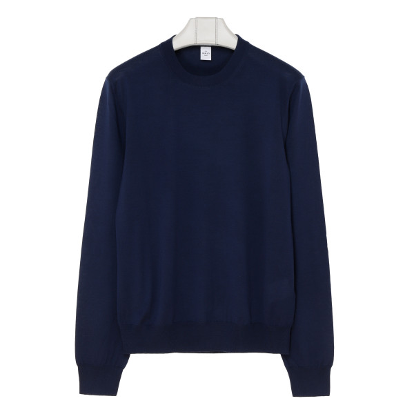 Blue light wool sweater