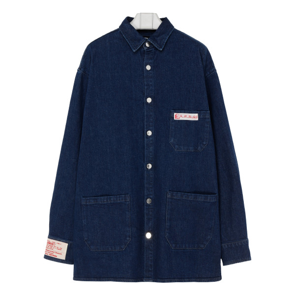 Blue denim shirt jacket