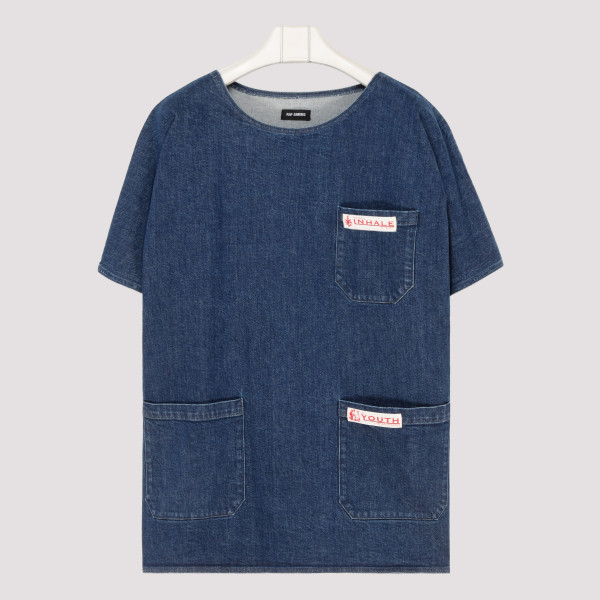 Blue denim oversized T-shirt
