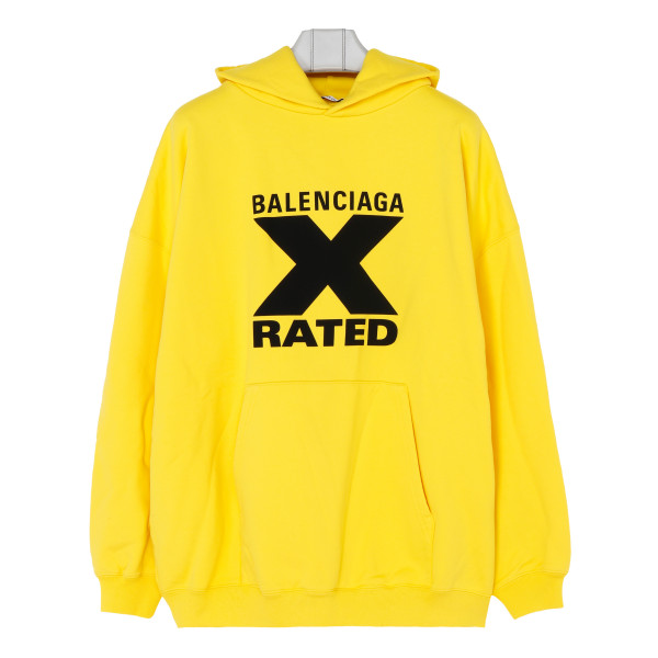 Yellow X rated hoodie