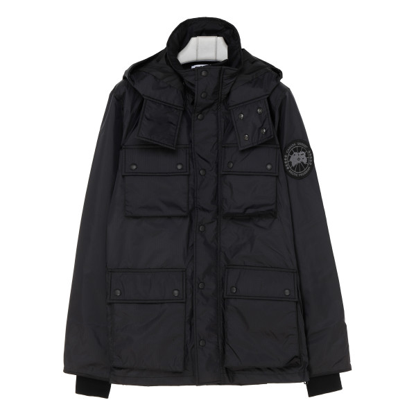 Black four pocket padded jacket