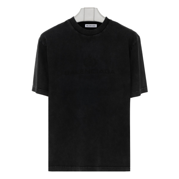 Anthracite vintage T-shirt with logo