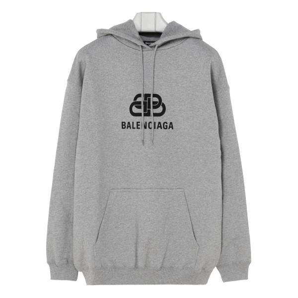 Gray hoodie with logo