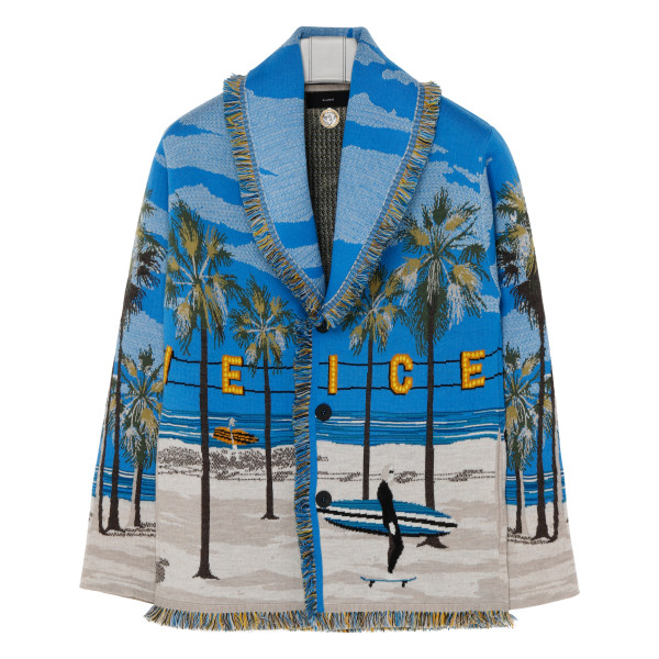 Venice Beach Wool Blend Knit Cardigan