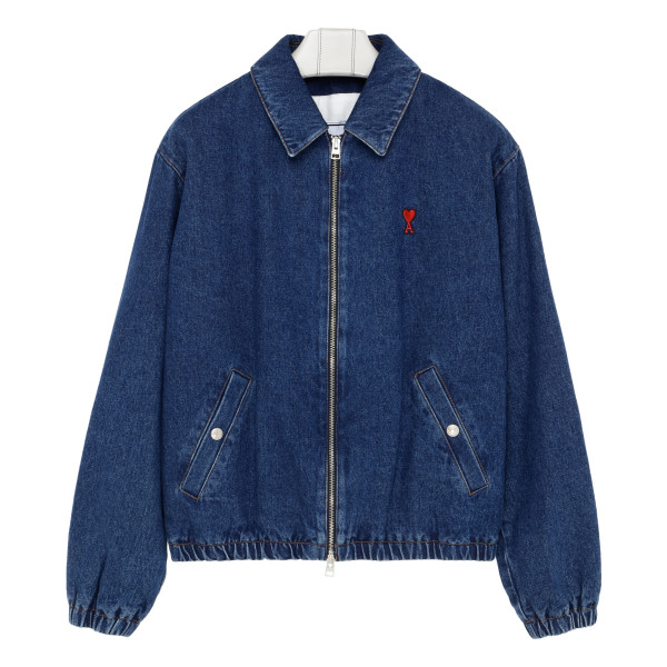 Ami de coeur blue denim bomber jacket