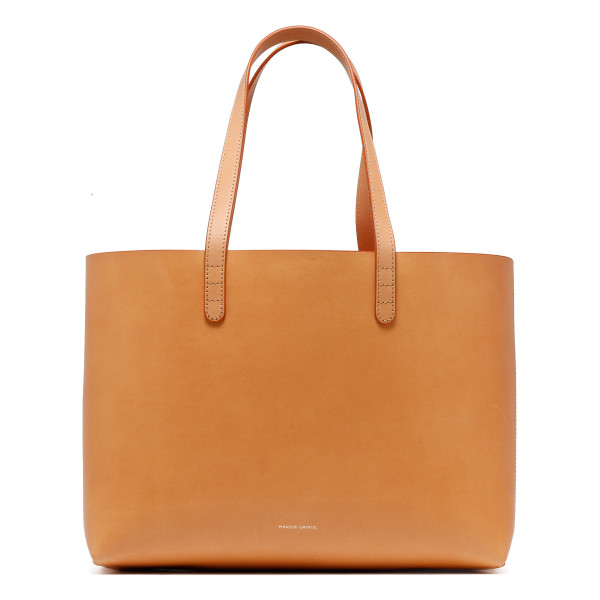 Camel and pink small tote bag