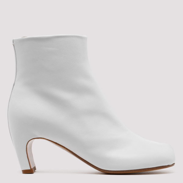 White Tabi zipped ankle boots