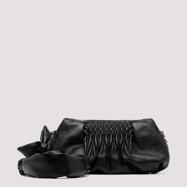 Black nappa shoulder bag