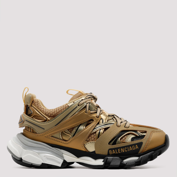 Track gold sneakers
