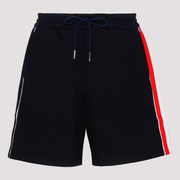 Navy cotton bermuda shorts