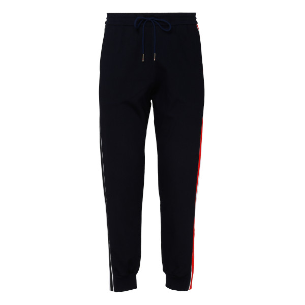 Navy cotton interlocking track pants