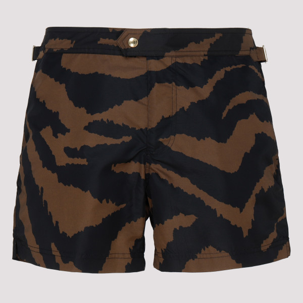 Tiger print swim shorts