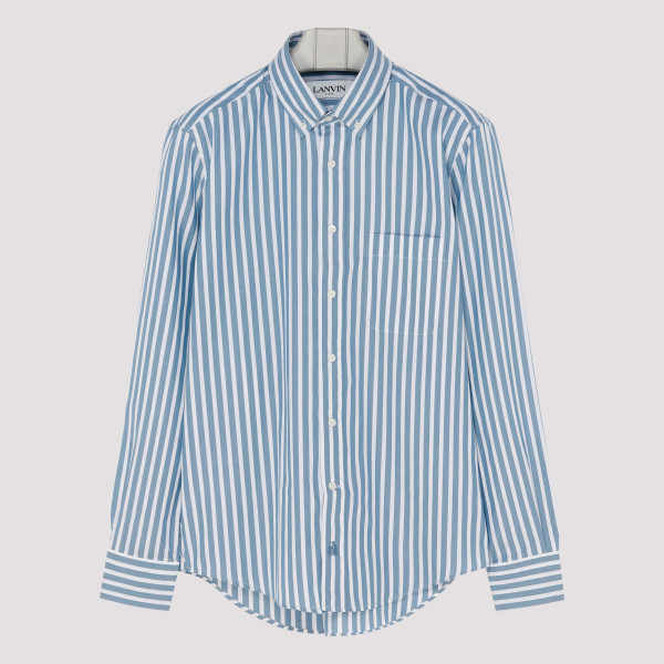 Striped fitted cotton shirt