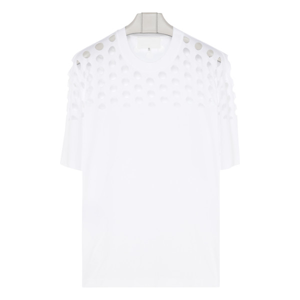 White Punched hole T-shirt