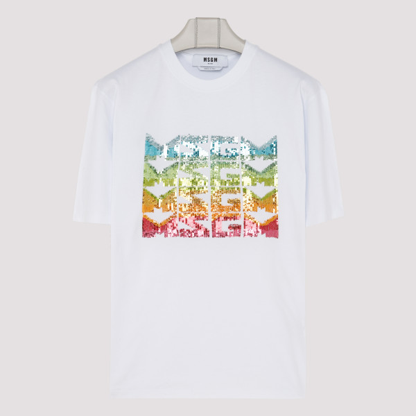 Multicolor sequin T-shirt