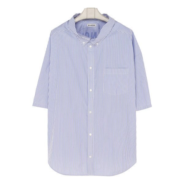 Cocoon swing striped shirt