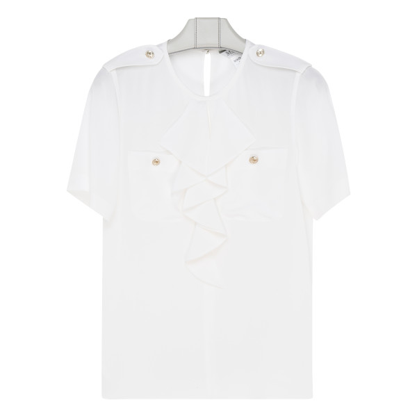 White Silk crêpe de chine shirt