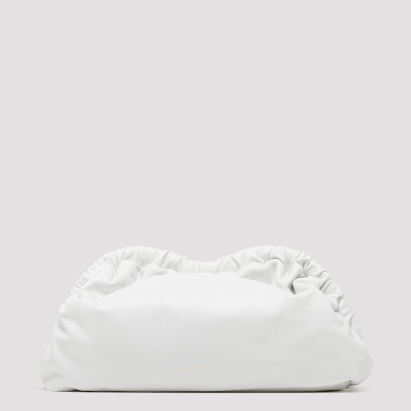 White Cloud leather clutch