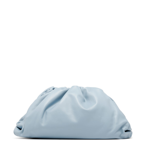 The Pouch ice blue leather clutch