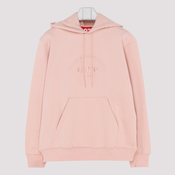 Pink embroidered logo hoodie