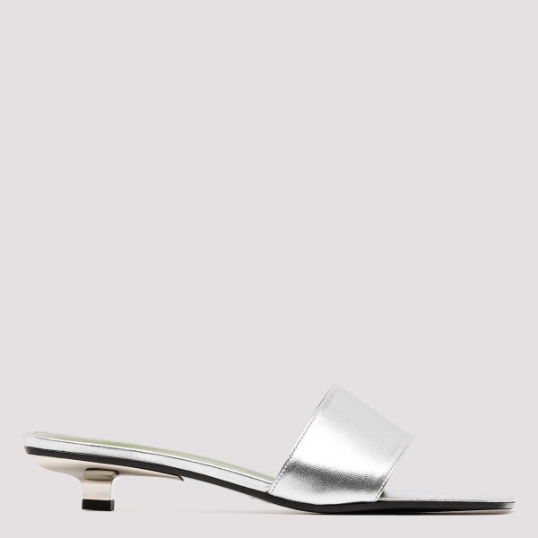 Ceni silver leather mule...