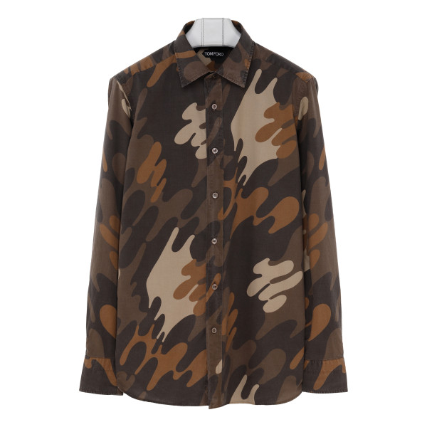 Camouflage cotton shirt