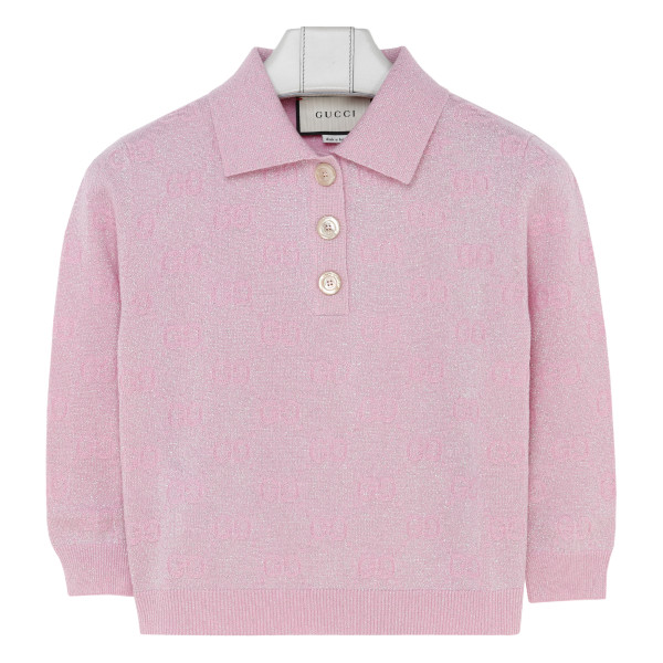 GG sparkling wool cropped polo