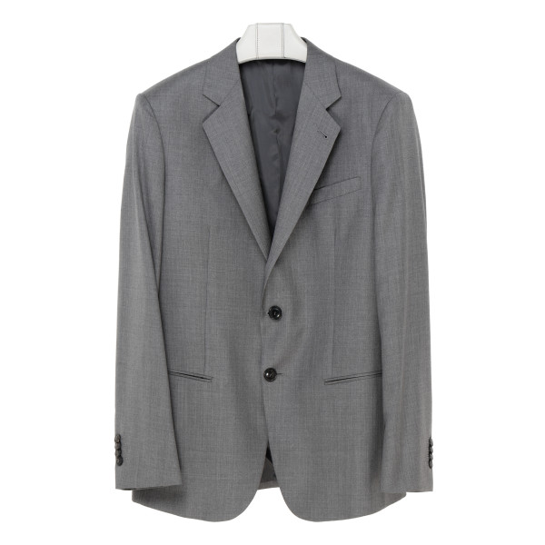 Gray formal two-piece suit