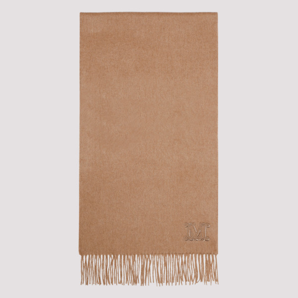 Beige scarf with logo
